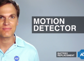 Motion Detector Sensor Battery Replacement